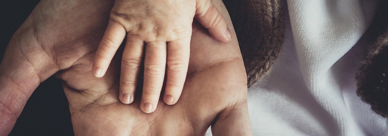 Hands image slide